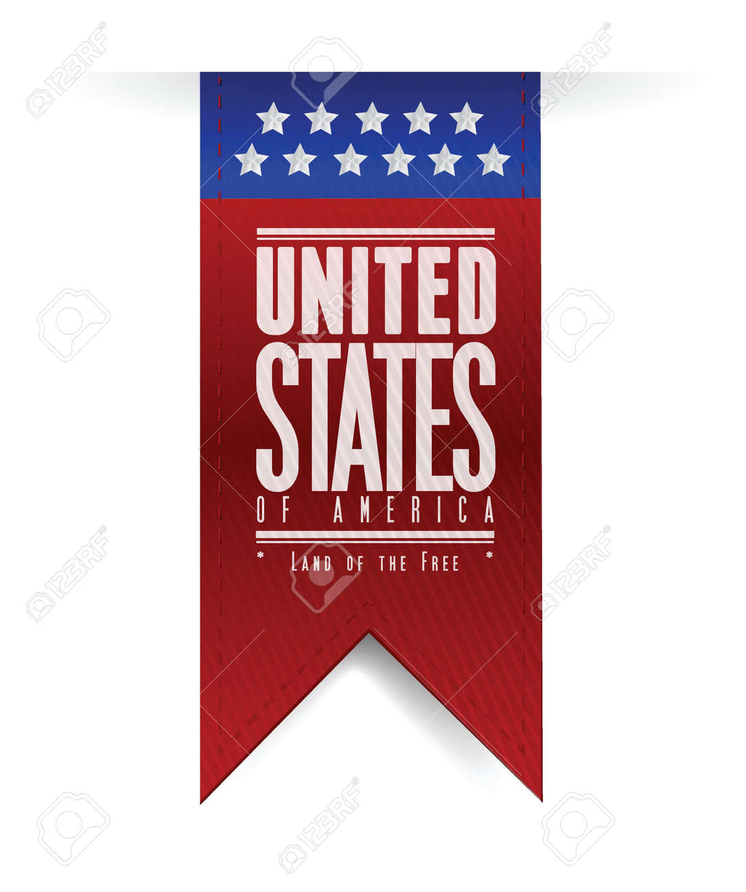 united states. usa flag banner illustration design graphic Stock Vector - 20387294