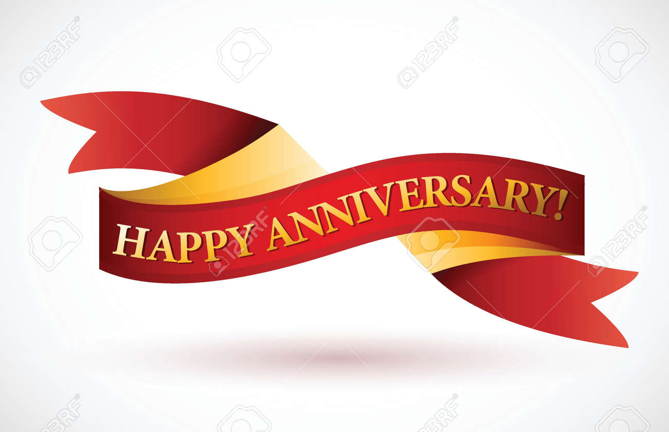 Years anniversary banner vector sixth sixth stock vector