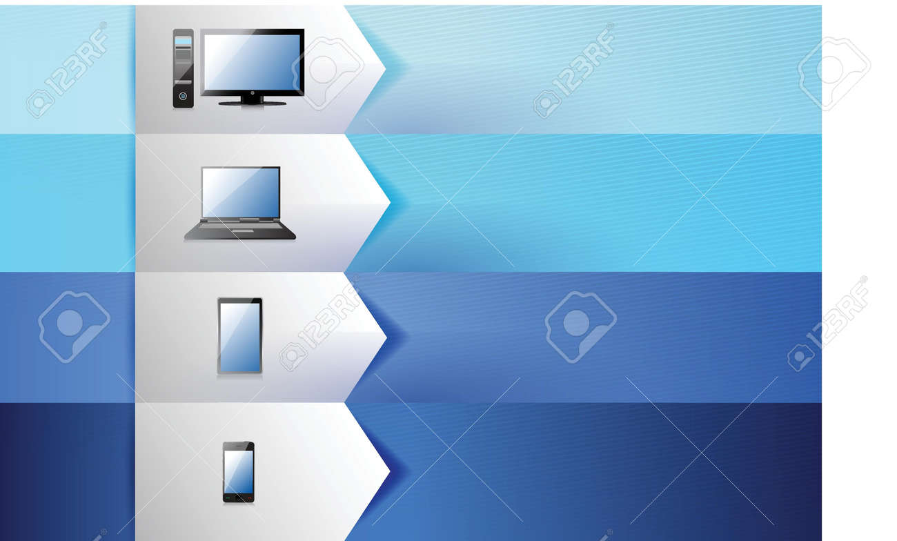 electronics customizable blue texture Banners Infographics illustration design Stock Vector - 20510650