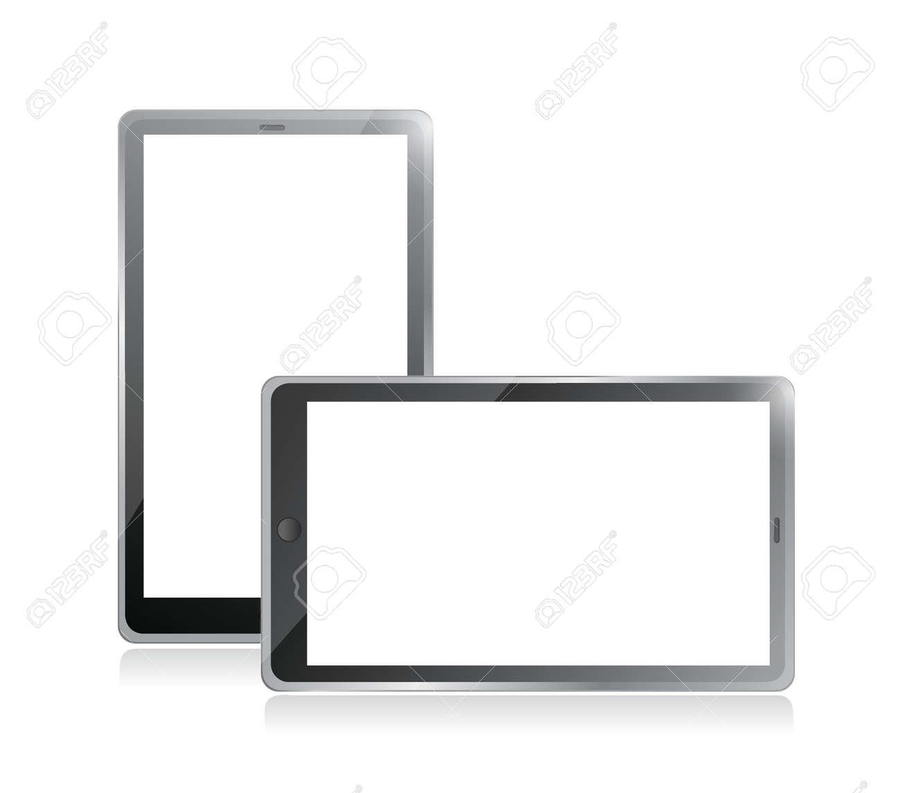Black tablets pc illustration design on white background Stock Vector - 20510585