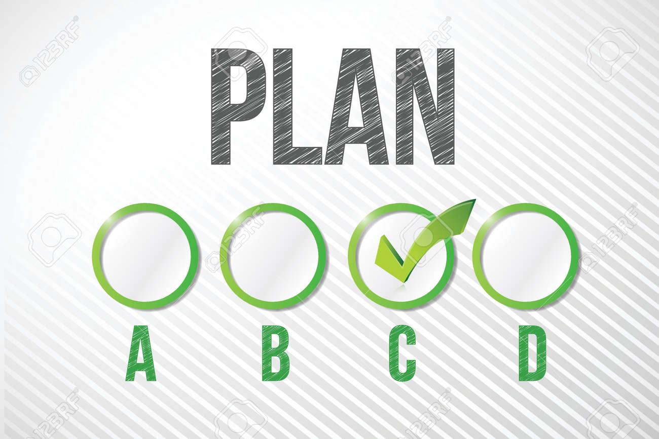 choosing plan c illustration design over a white paper background Stock Vector - 20530520