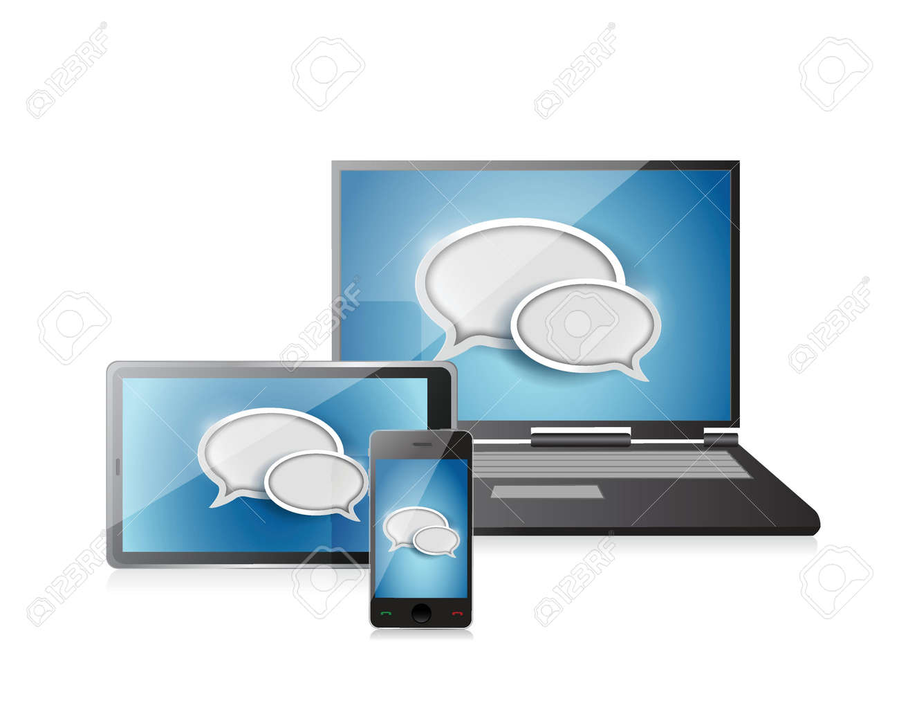 Chat Concept illustration design over a white background Stock Vector - 20530702