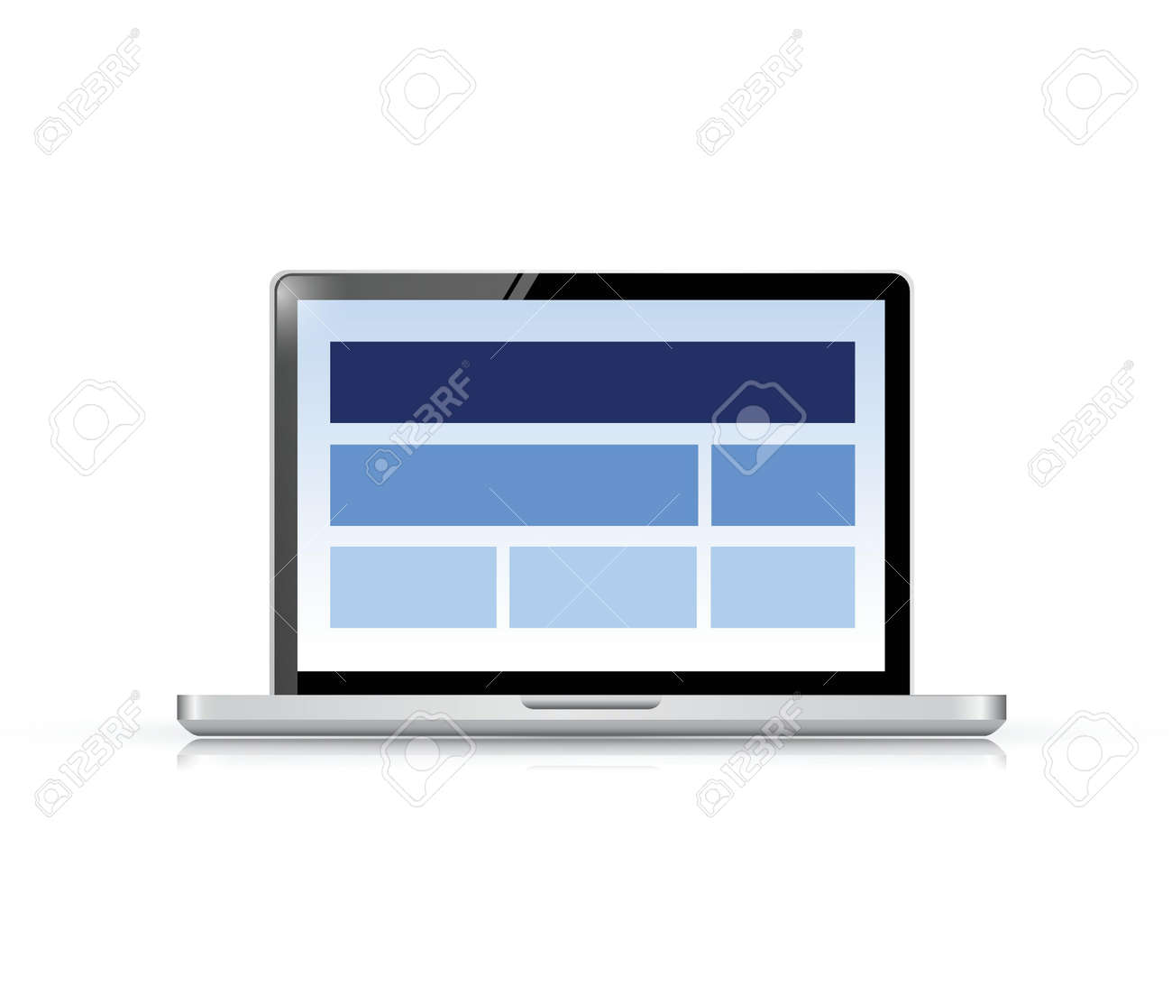 website layout on a computer screen. illustration design over white Stock Vector - 20662363