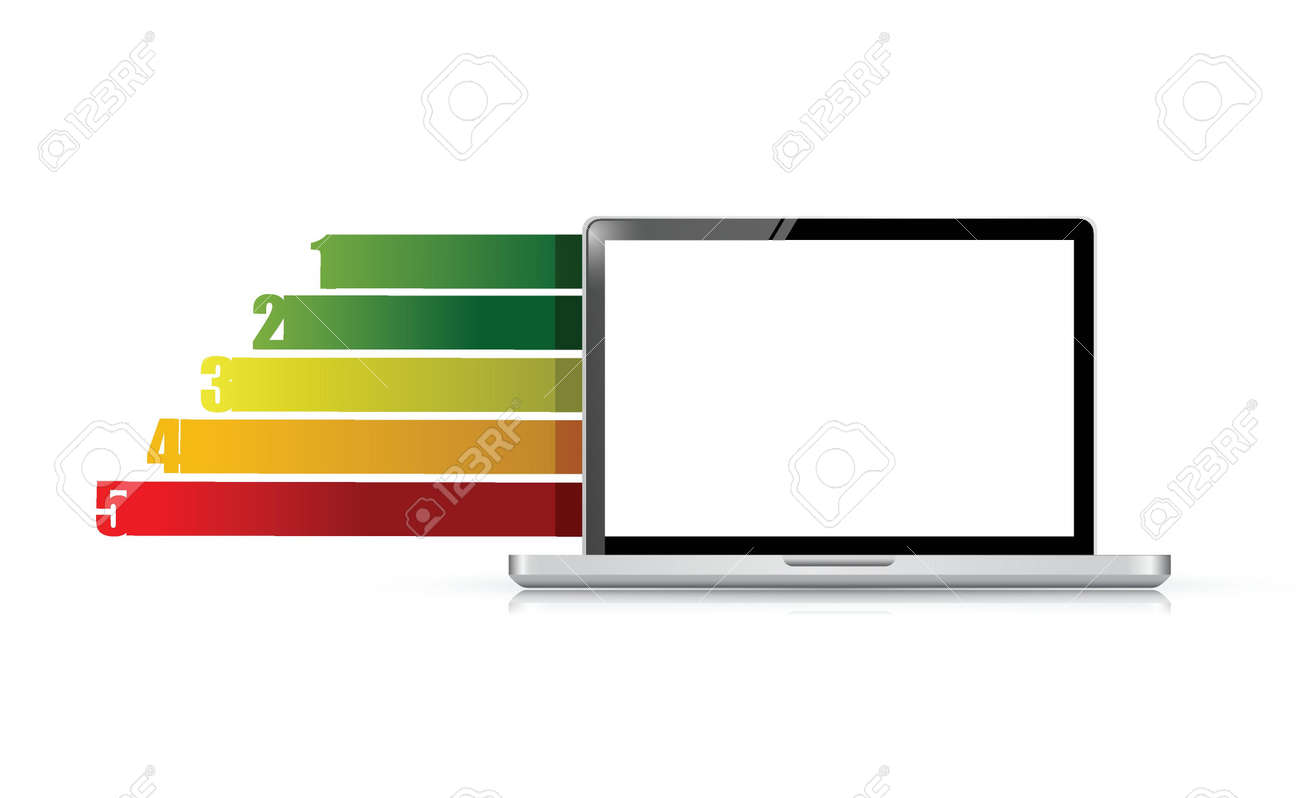 Design template numbered banners with laptop. infographics. illustration Stock Vector - 20662381