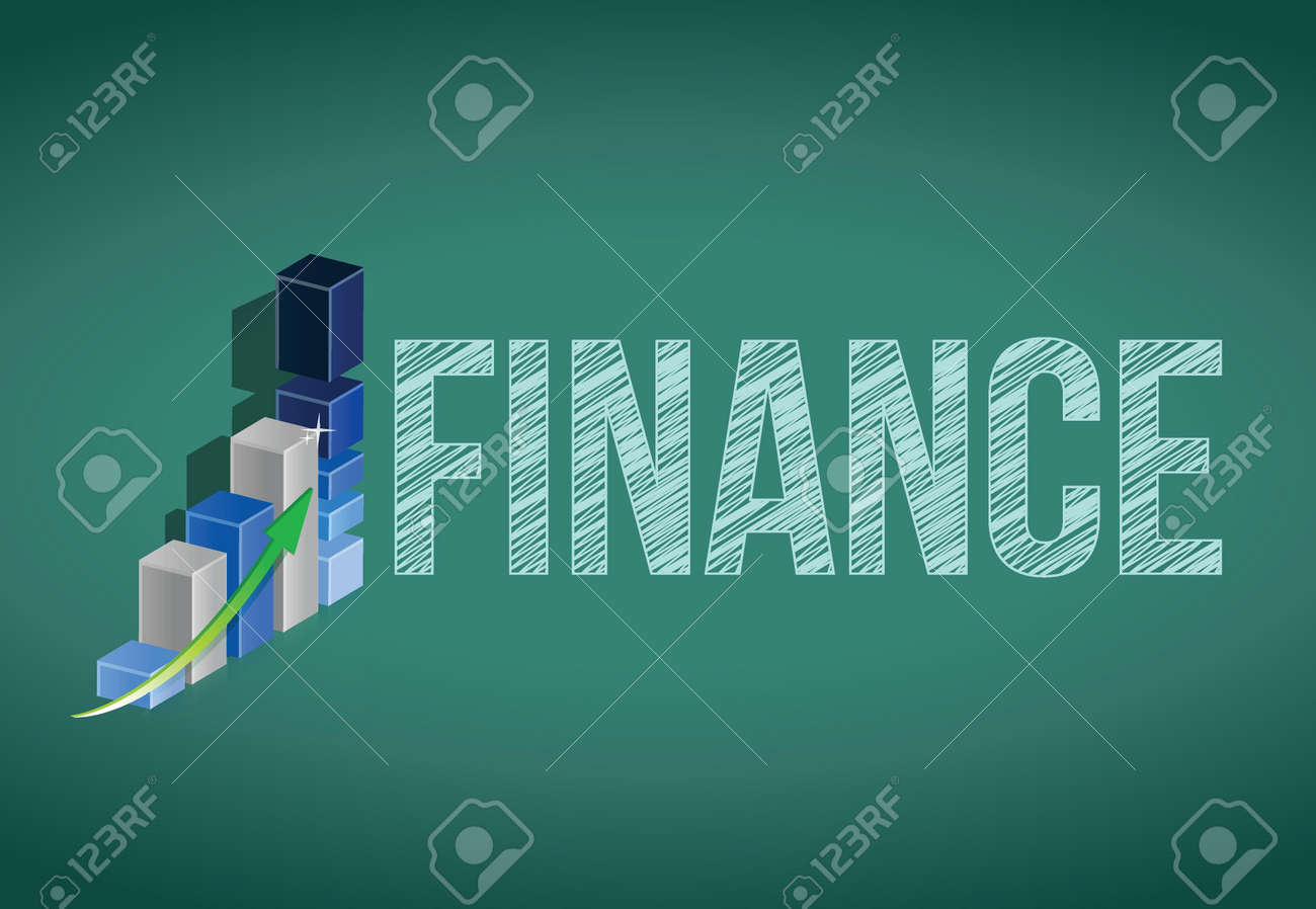 finance handwritten with white chalk on a chalkboard Stock Vector - 20760771
