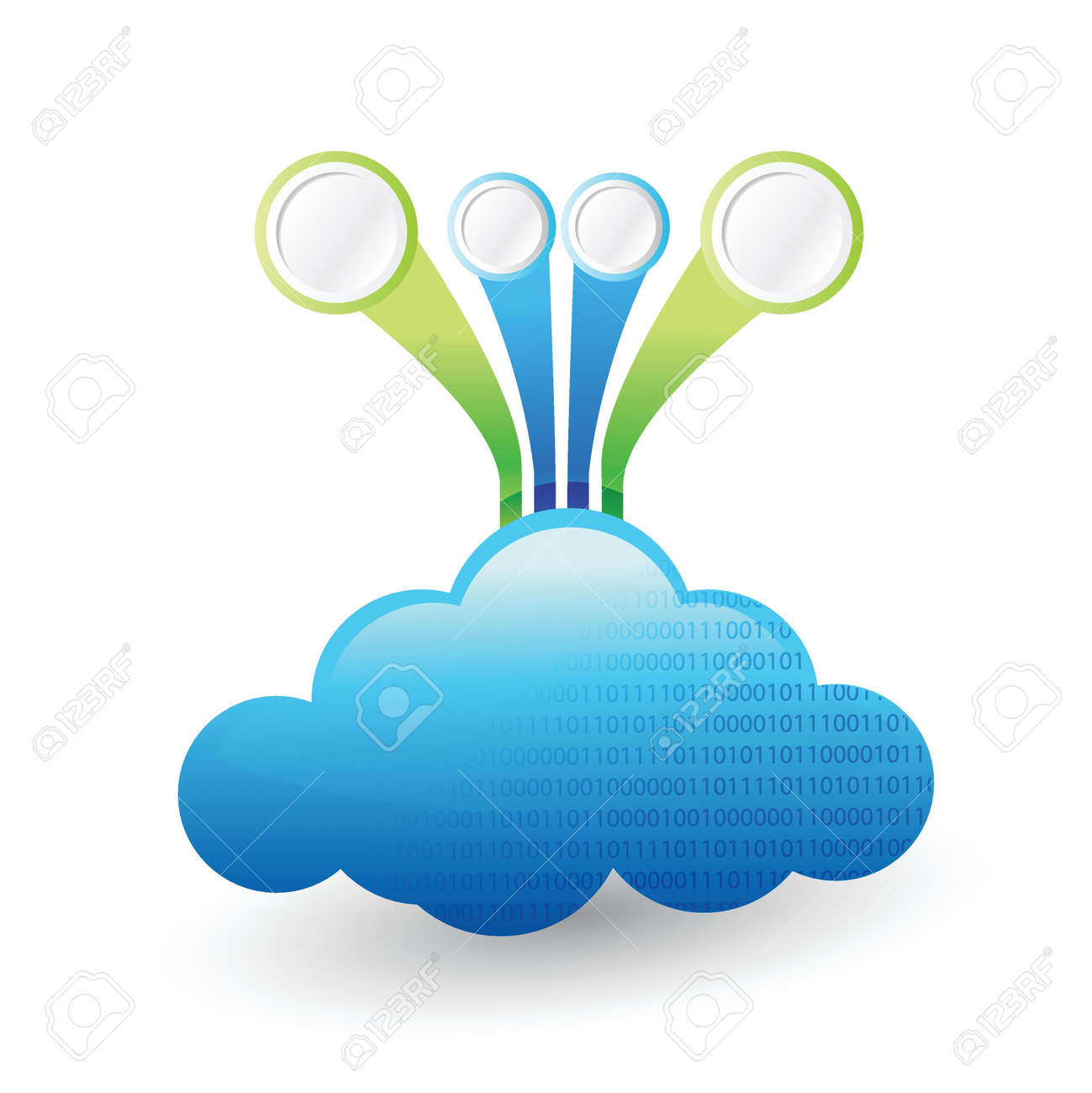 cloud computing Infographic template illustration design isolated over white Stock Vector - 20760600