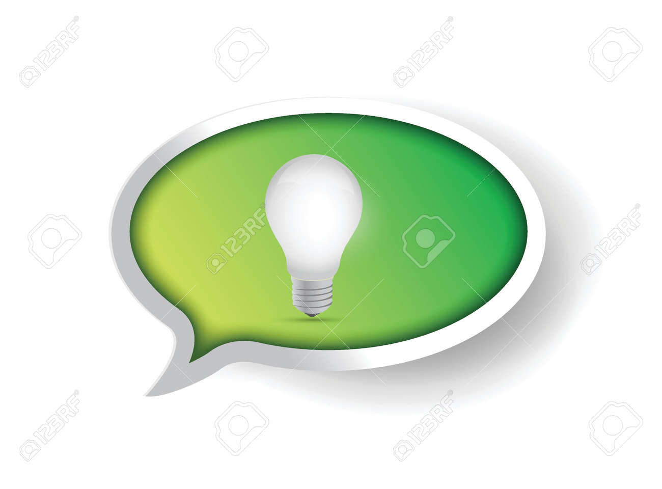 green idea message speech bubble illustration design Stock Vector - 20760574