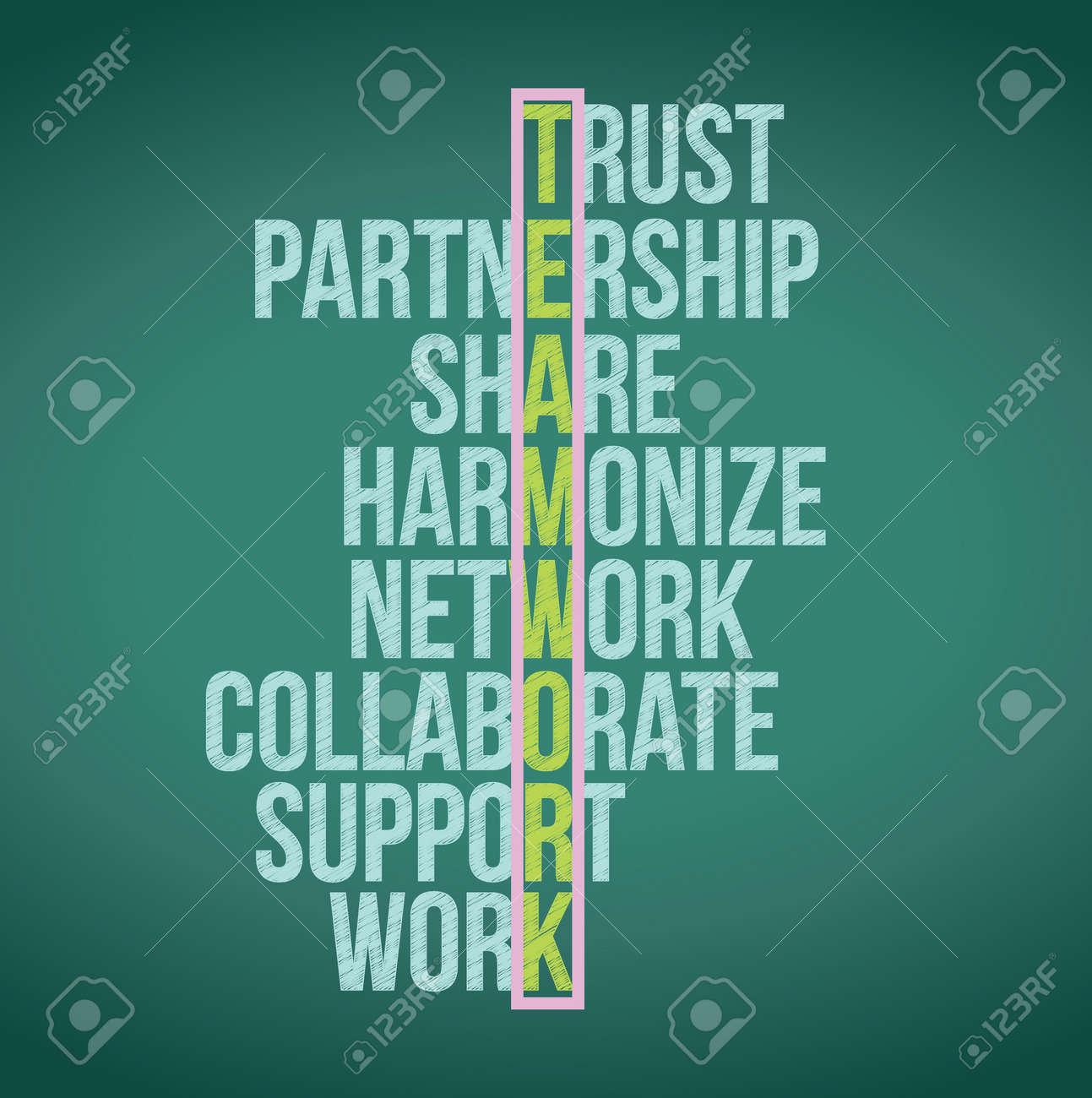 チームワーク概念クロスワード イラスト デザイン グラフィックの背景