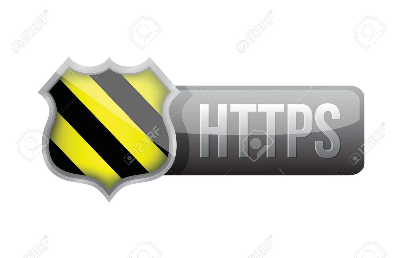 shield https security over white background. illustration design Stock Vector - 20760539