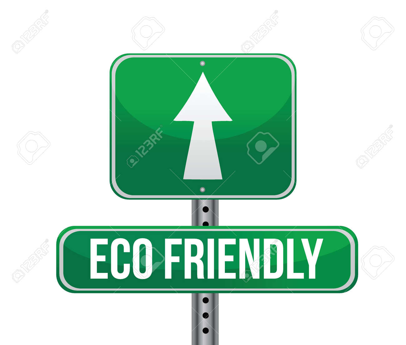 Eco-Friendly Sign illustration design Isolated on White Background Stock Vector - 20760541