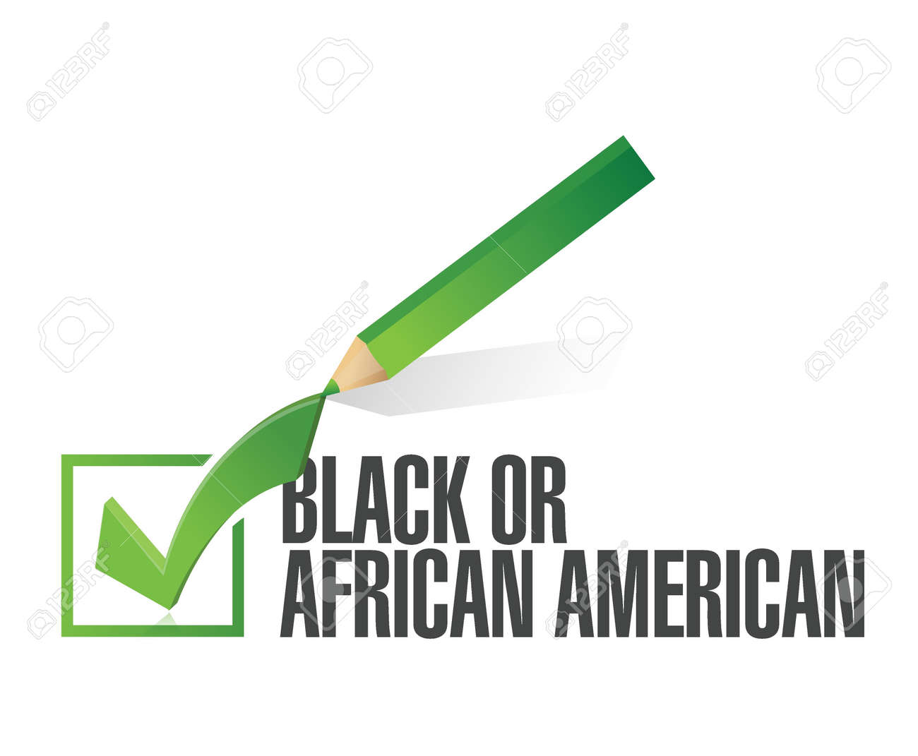 race selection black or african american illustration design over a white background Stock Vector - 20903273