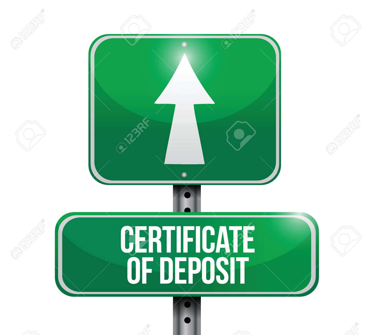 Certificate of deposit road sign illustrations design over white certificate of deposit road sign illustrations design over white stock vector 21081550 1betcityfo Gallery