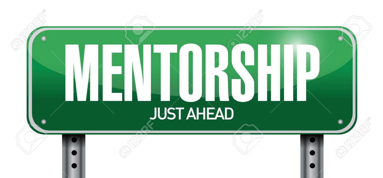 mentorship road sign illustration design over white Stock Vector - 21161575