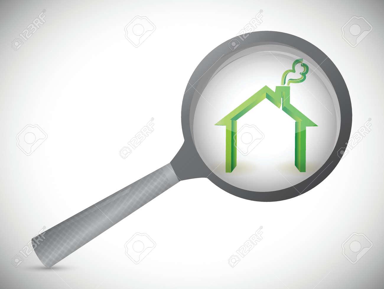 house inspection illustration design over a white background Stock Vector - 21314071