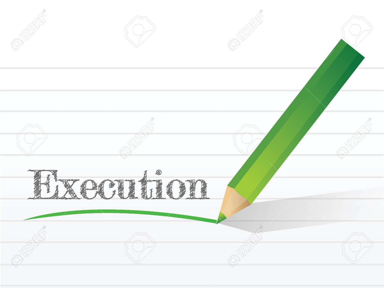 execution written on a notepad paper. illustration design Stock Vector - 21371745