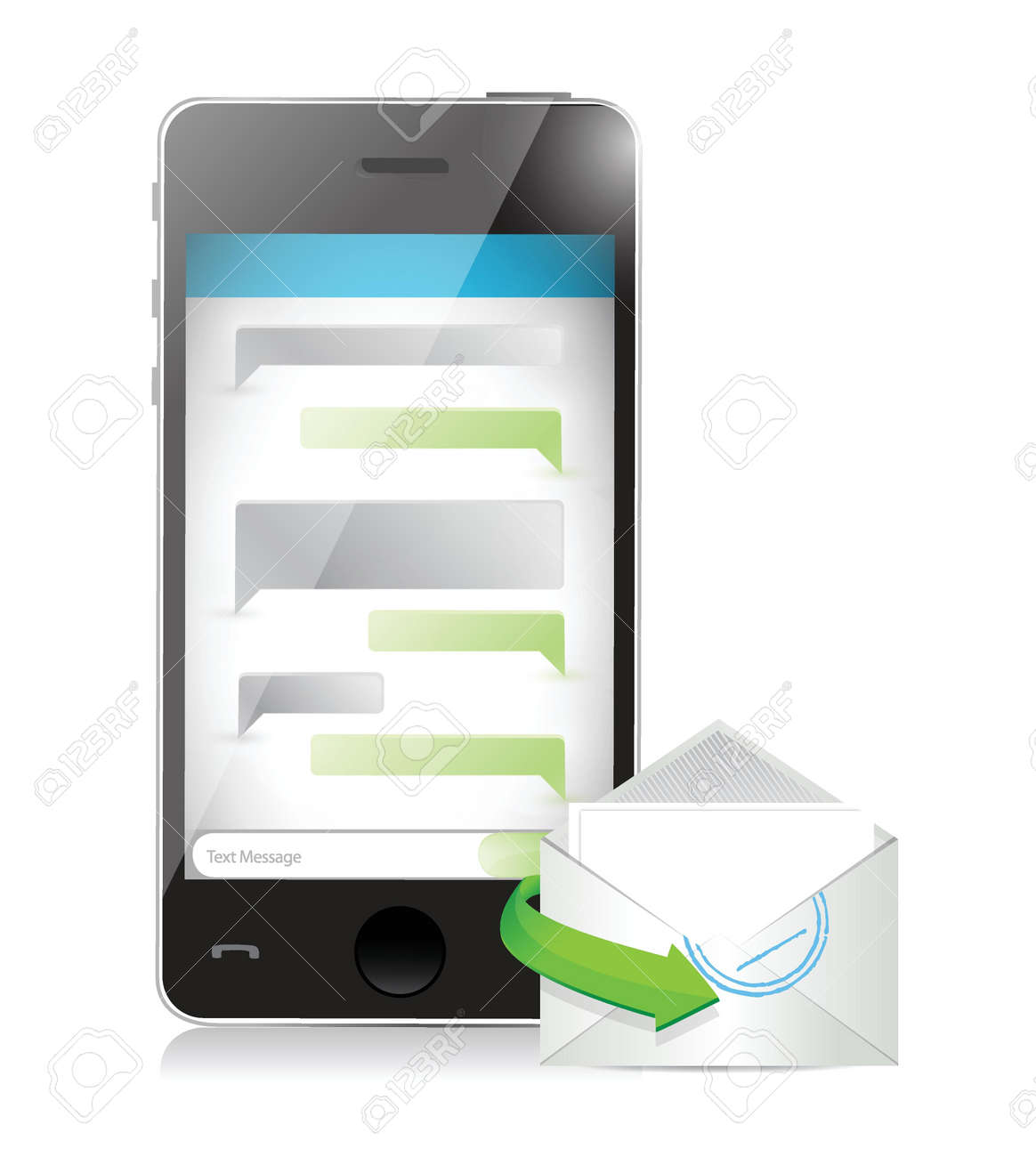 mail communication concept illustration design over a white background Stock Vector - 21506159