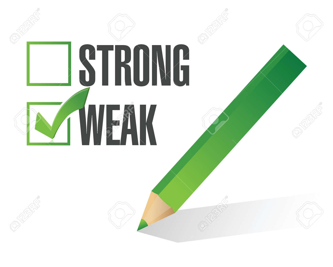 weak over strong selection illustration design over white Stock Vector - 21603105