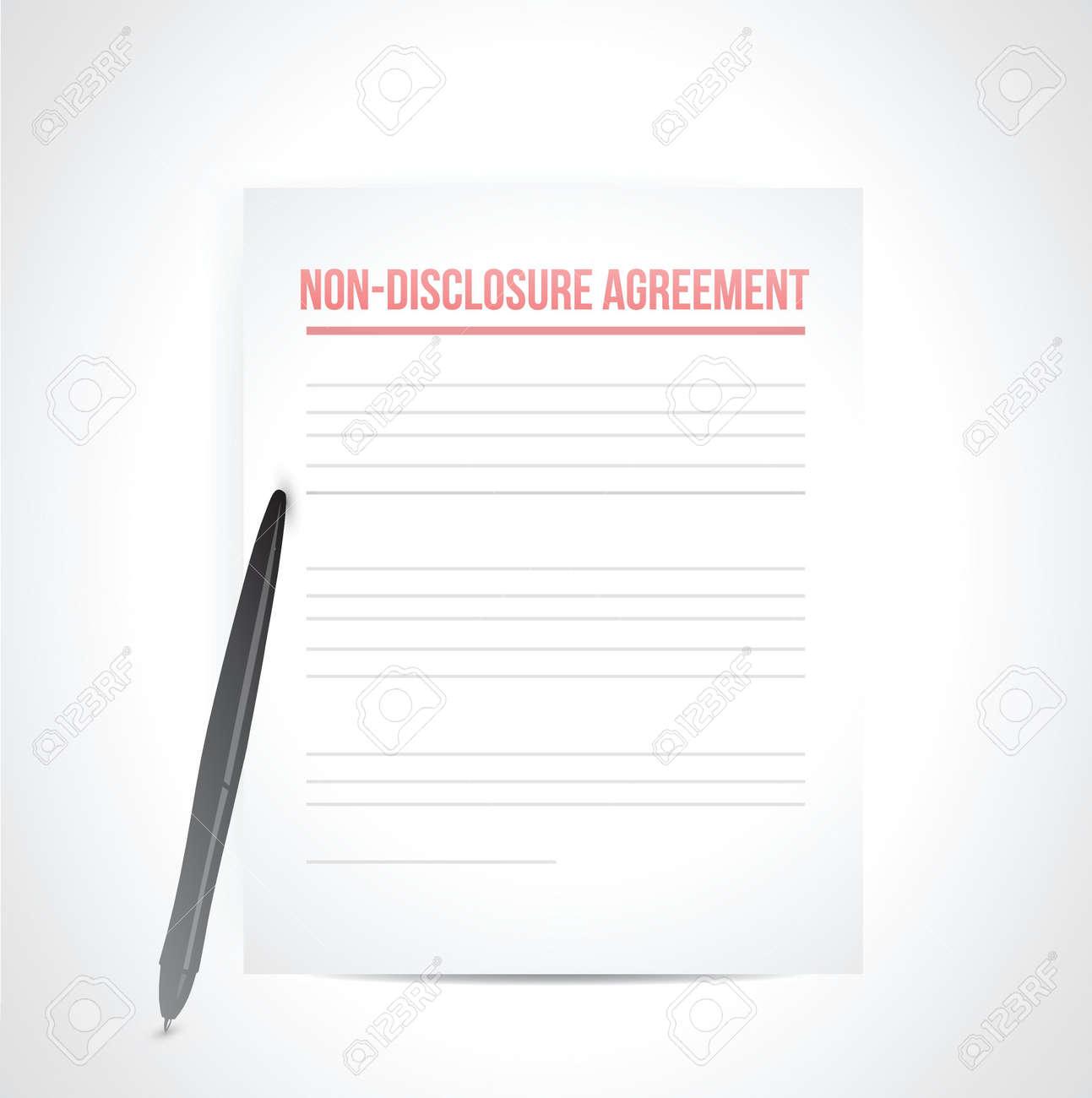 non disclosure agreement documents. illustration design over white Stock Vector - 21603118