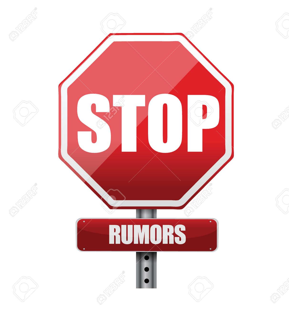 stop rumors road sign illustration design over white Stock Vector - 21764090