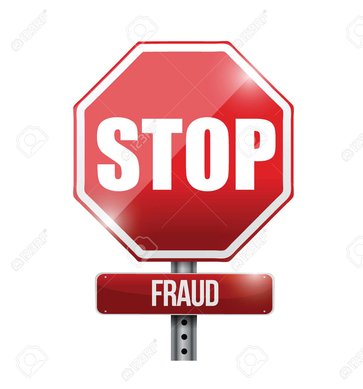 stop fraud road sign illustration design over a white background Stock Vector - 21814194