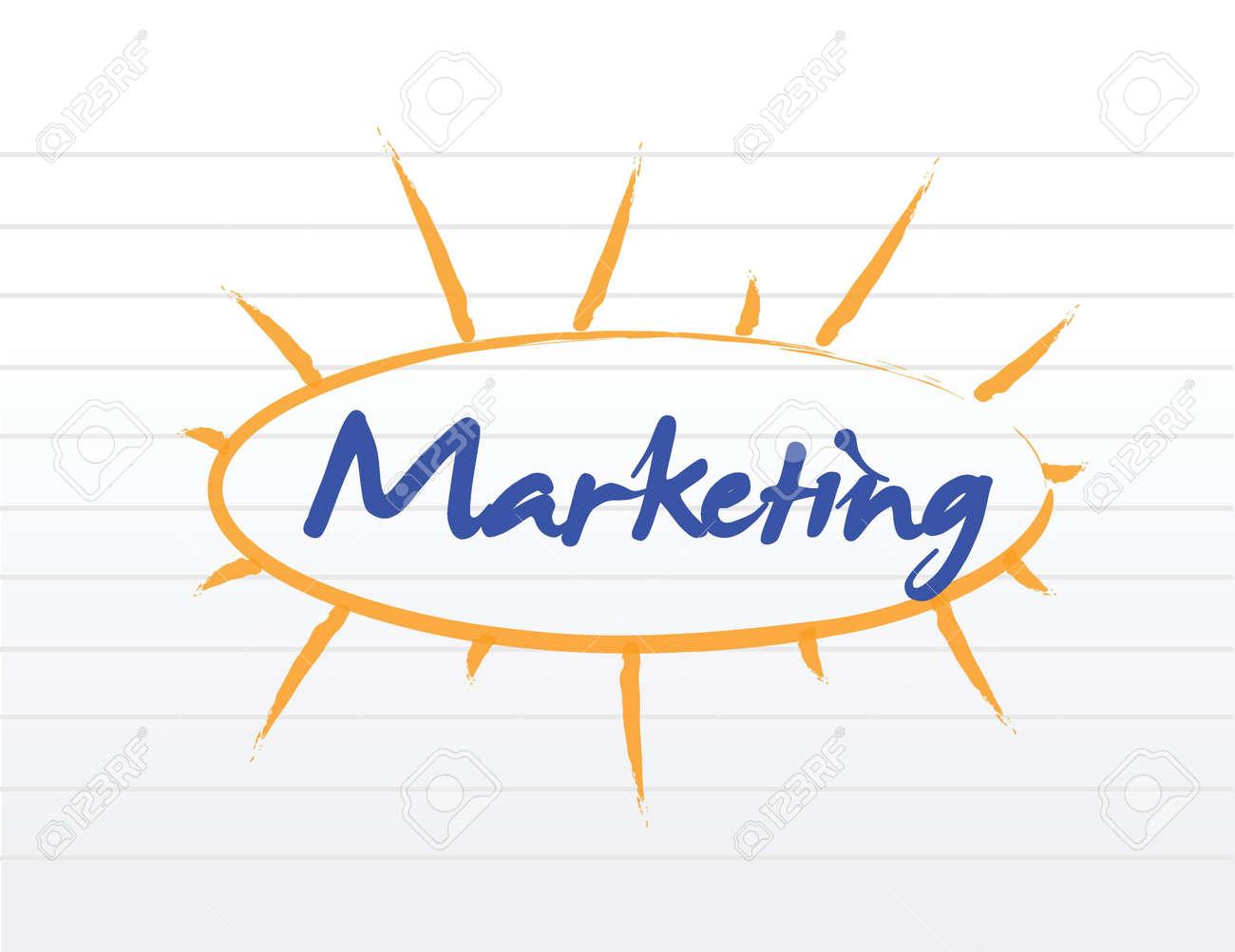 marketing blank diagram illustration design over white Stock Vector - 21942381