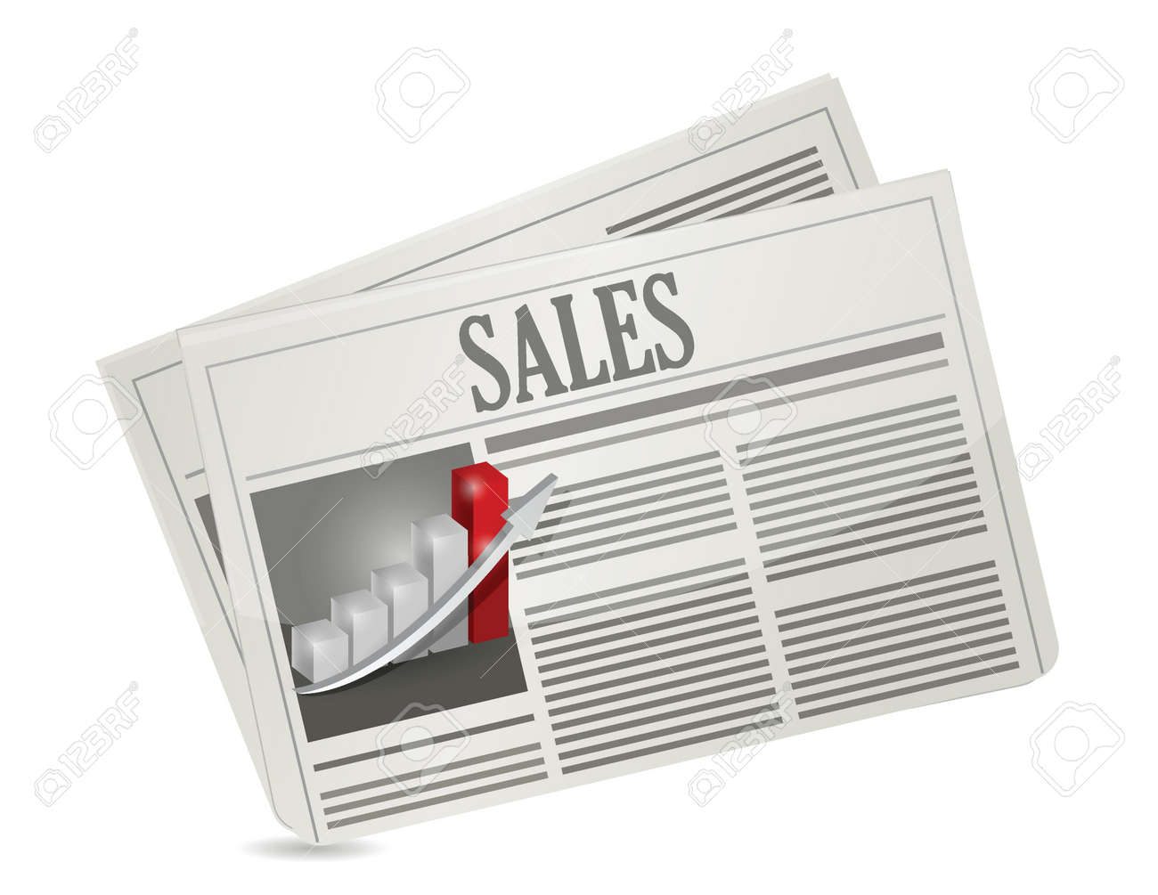 business sales newspaper illustration design over a white background Stock Vector - 21942384
