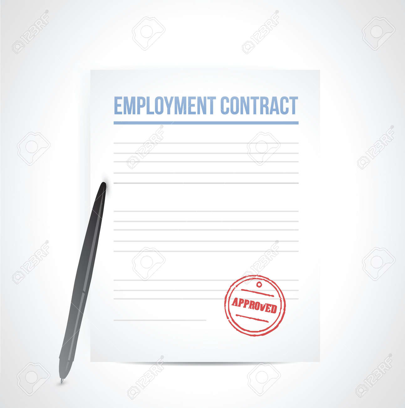 employment contrat illustration design over a white background Stock Vector - 21942394