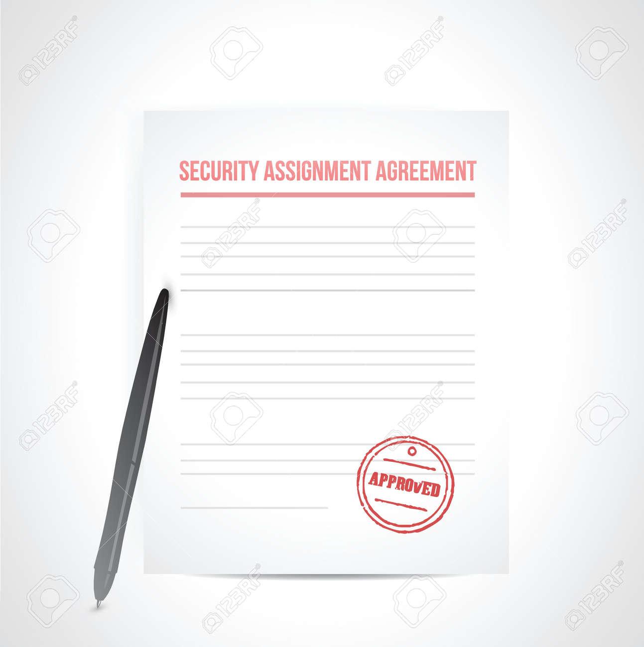Sicherheit Abtretungsvertrag Illustration, Design In Weiß Lizenzfrei ...