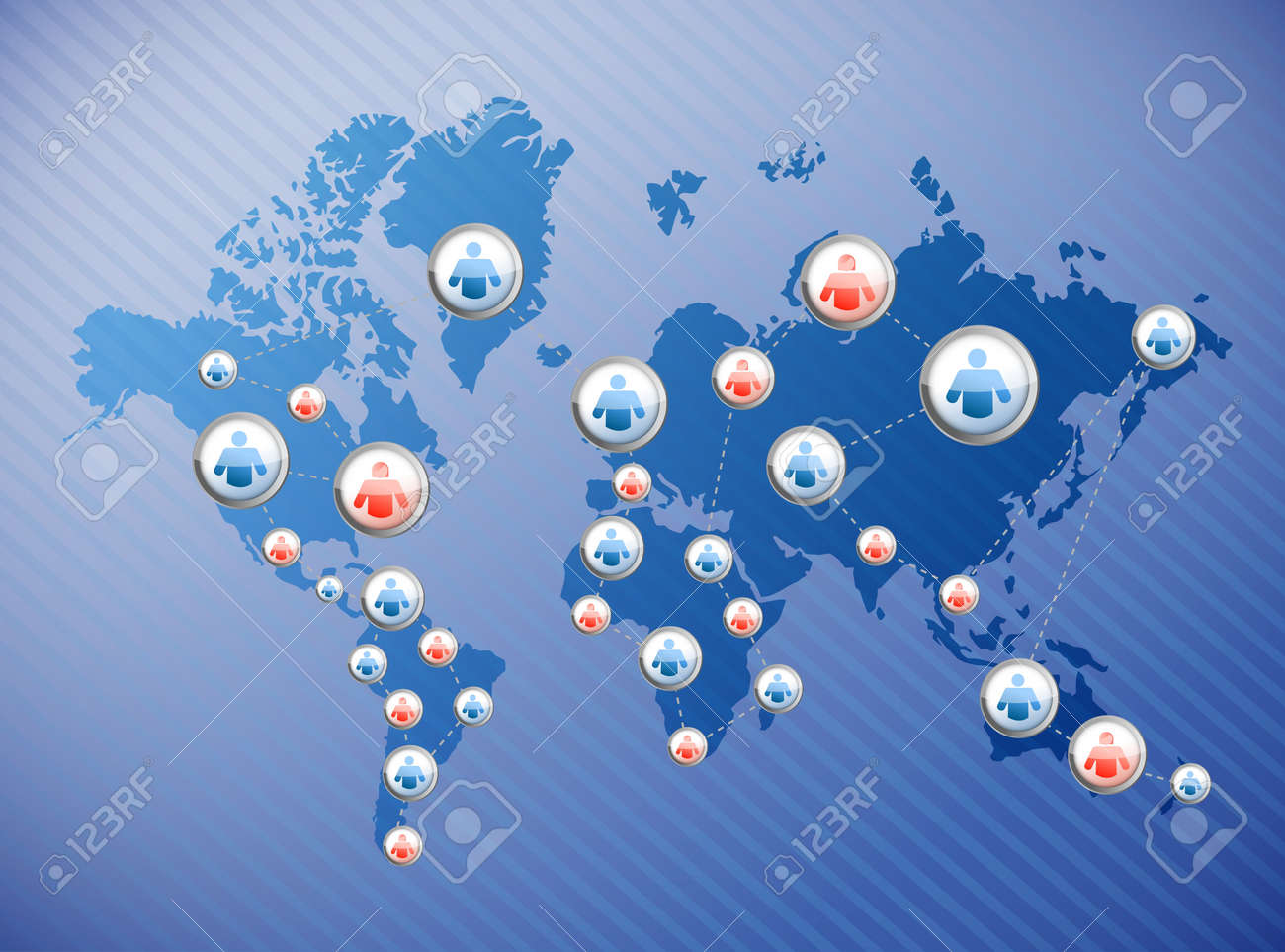 social media connections illustration design over a world map Stock Photo - 21942456