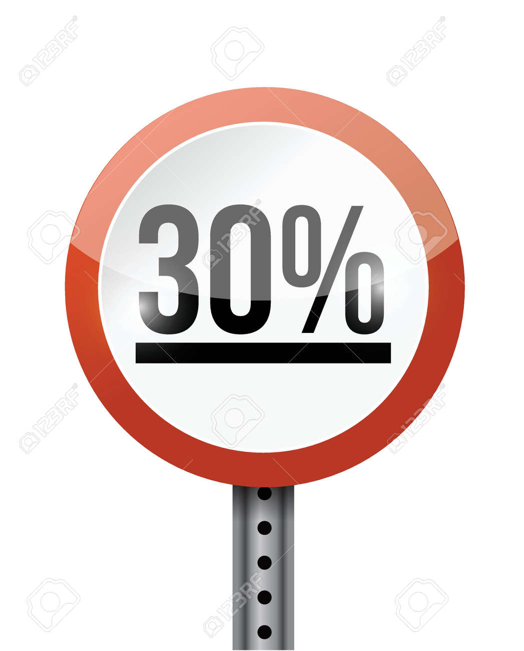 30 percentage road sign illustration design over a white background Stock Vector - 21970055