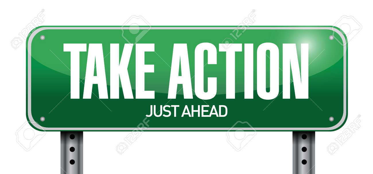 take action road sign illustration design over a white background Stock Vector - 22035702