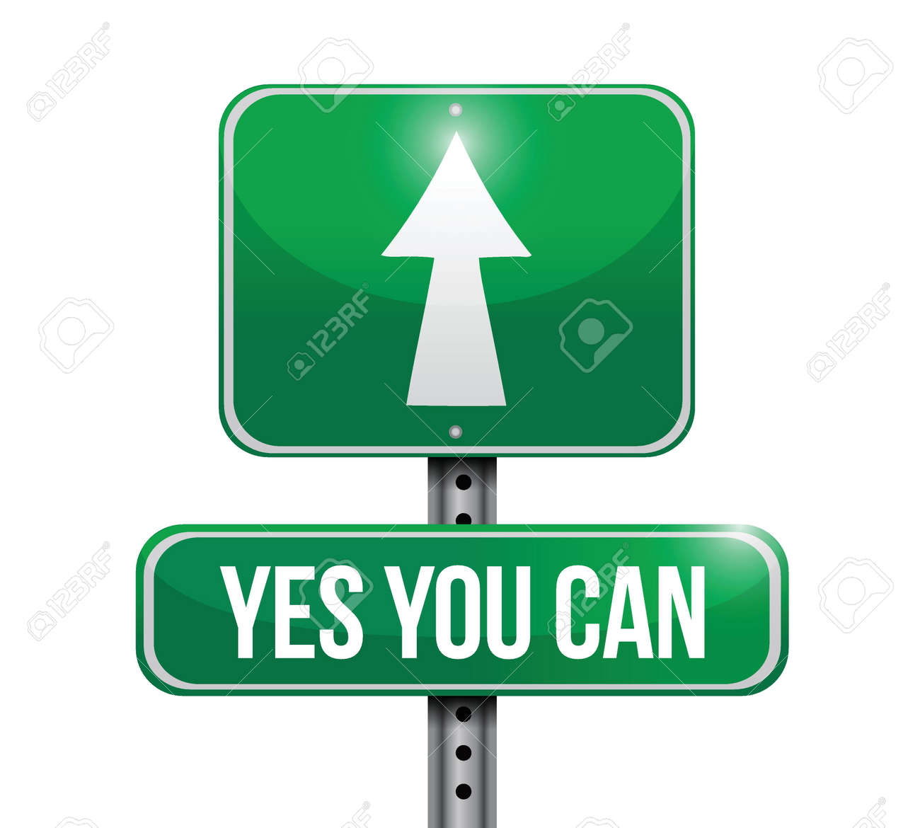 yes you can road sign illustration design over a white background Stock Vector - 22035705