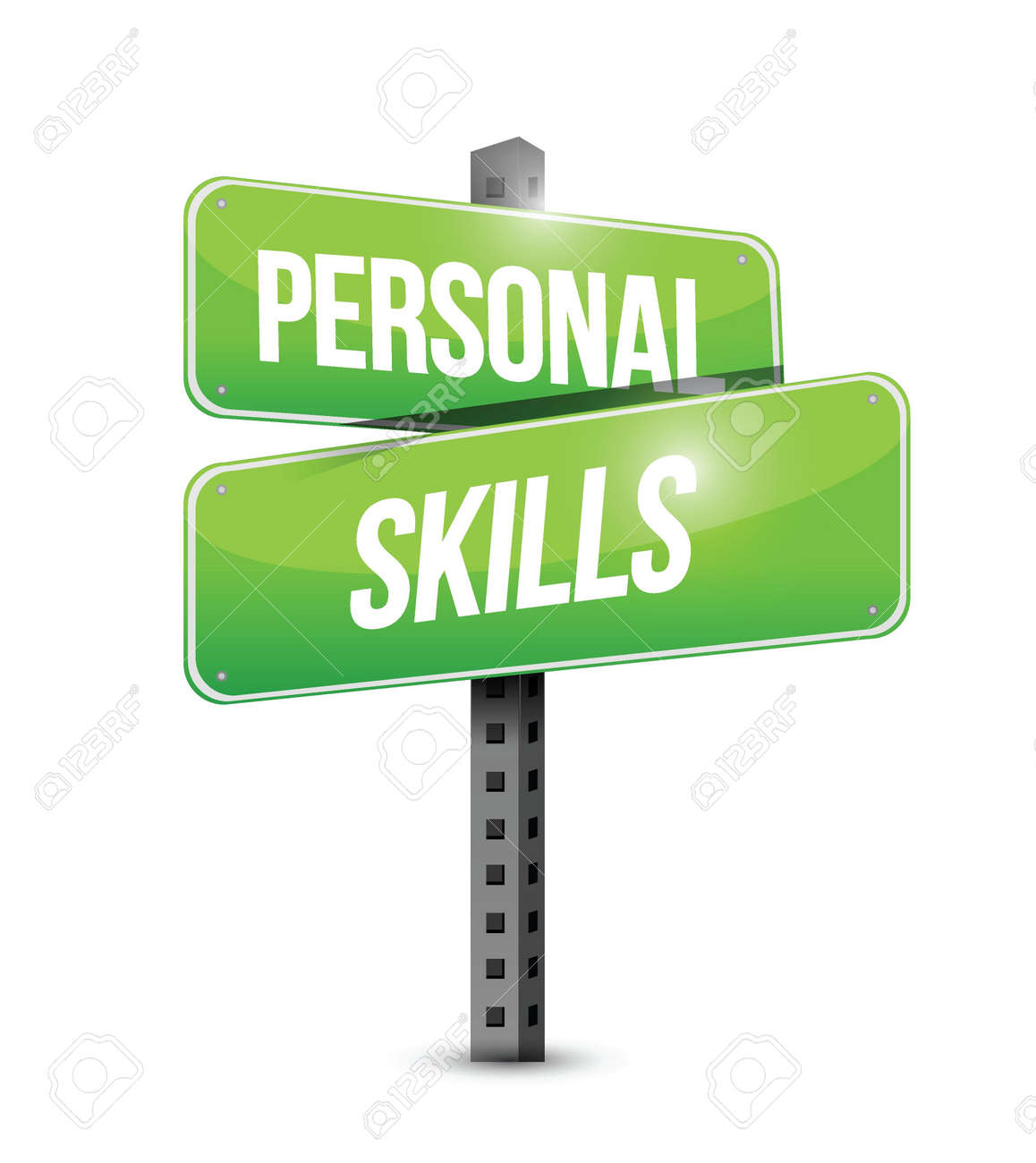 personal skills road sign illustration design over a white vector personal skills road sign illustration design over a white background