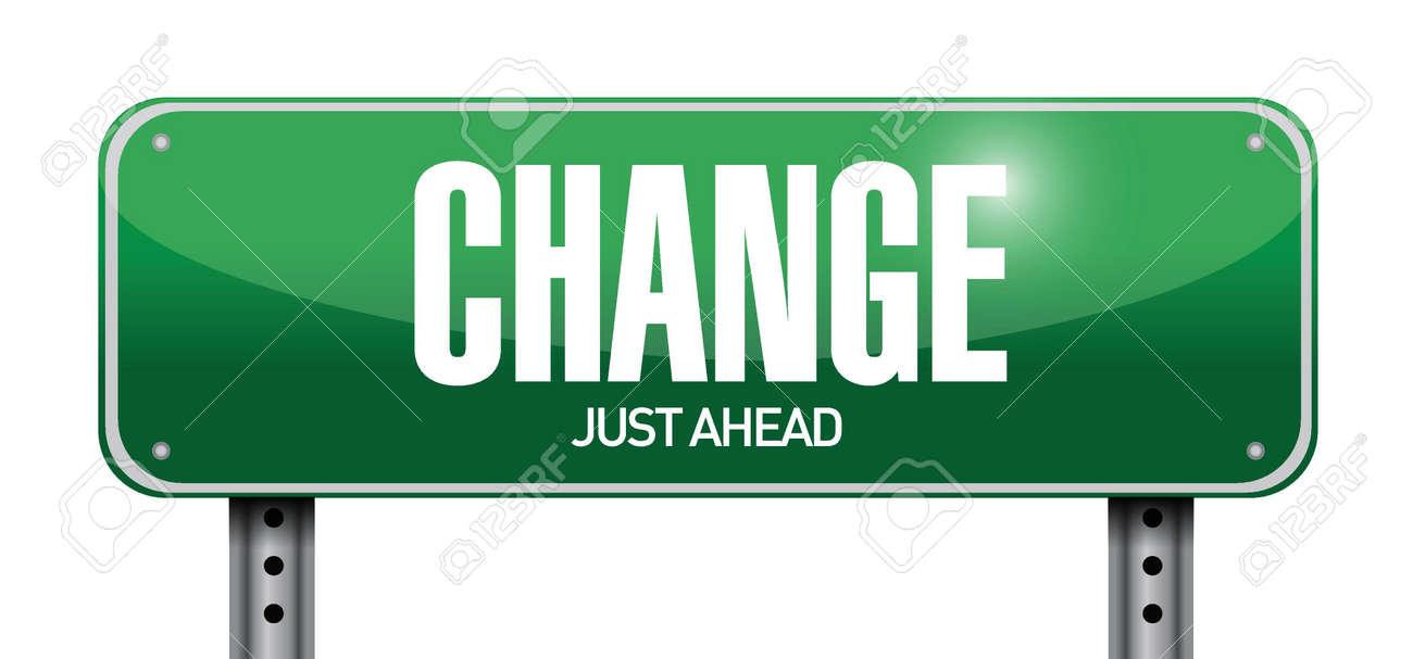 change road sign illustration design over a white background Stock Vector - 22165779