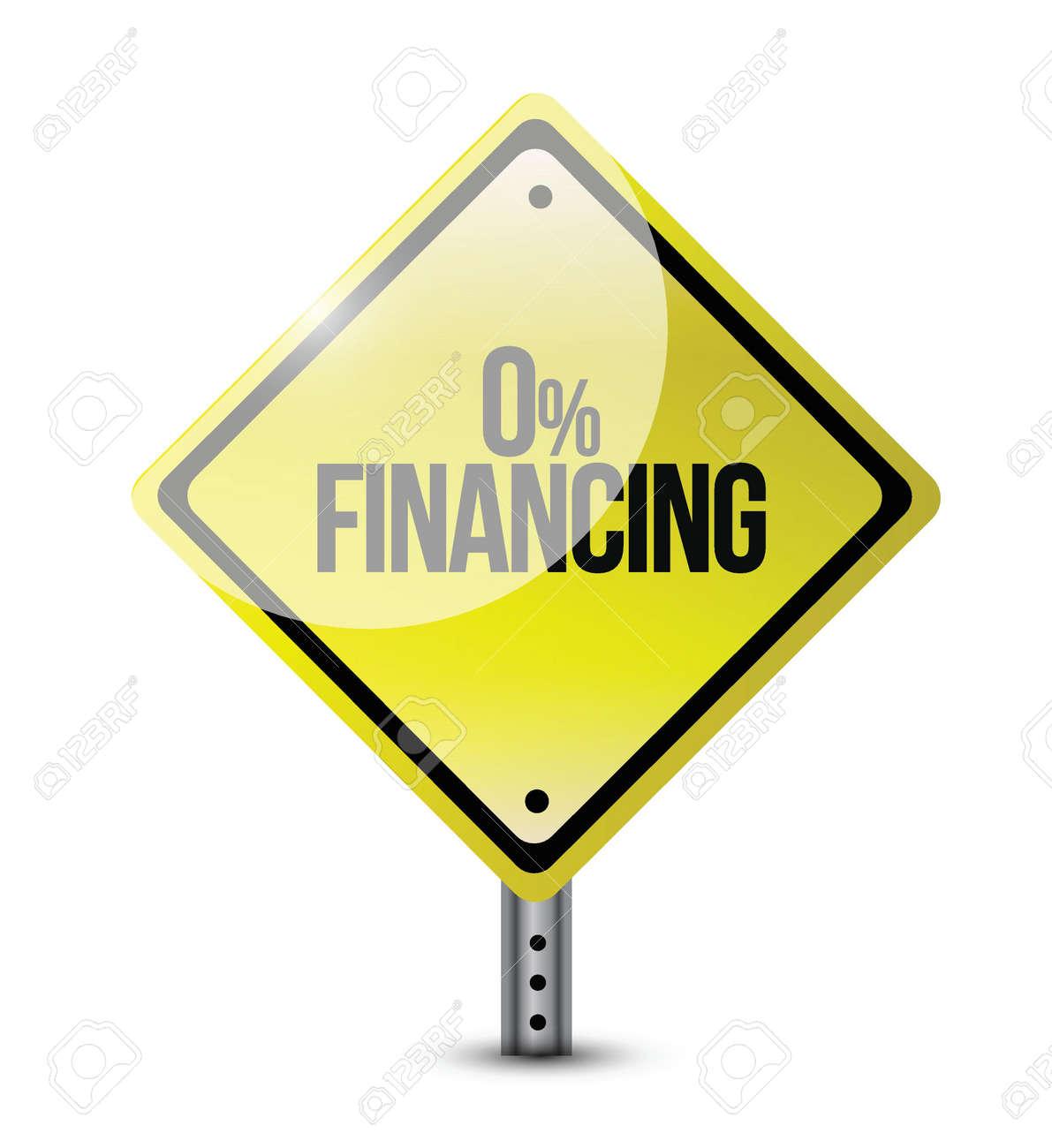 zero financing road sign illustration design over a white background - 22165811