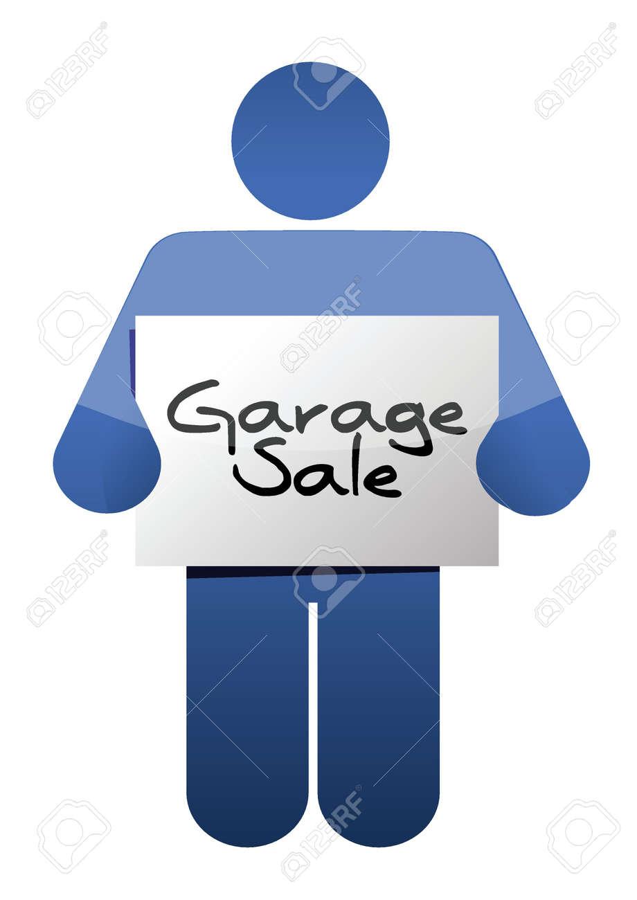 Garage Sale Sign Illustration Design Over A White Background ...
