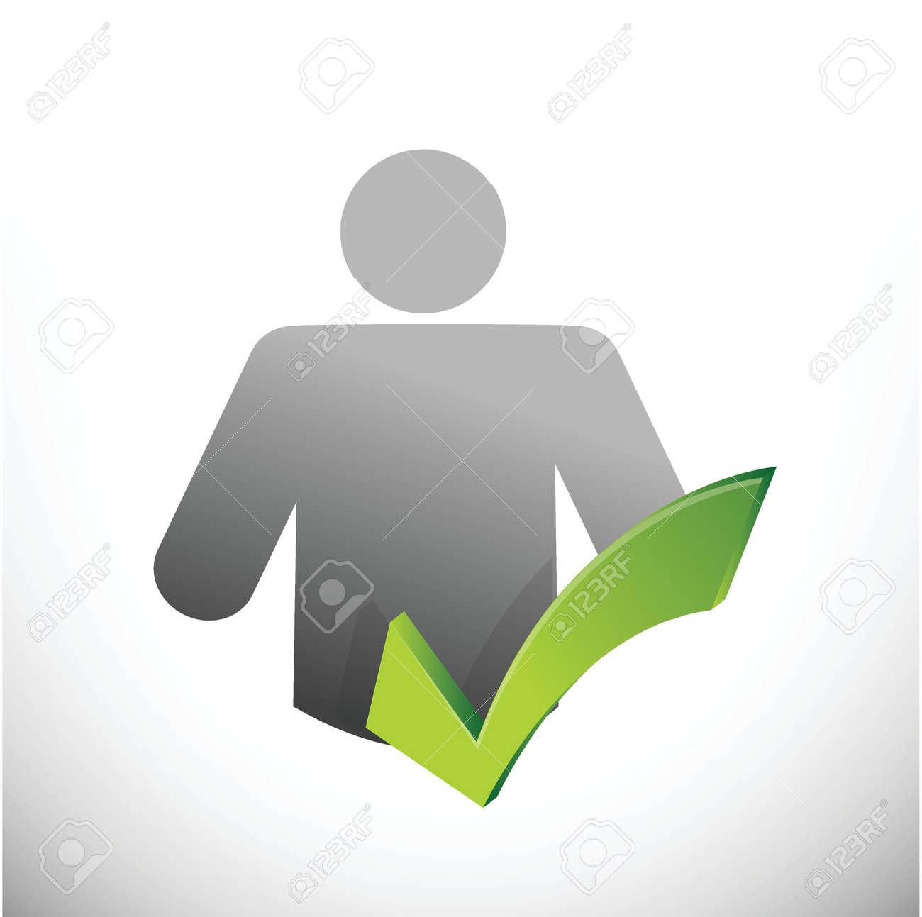 icon check mark illustration design over a white background Stock Vector - 22344477