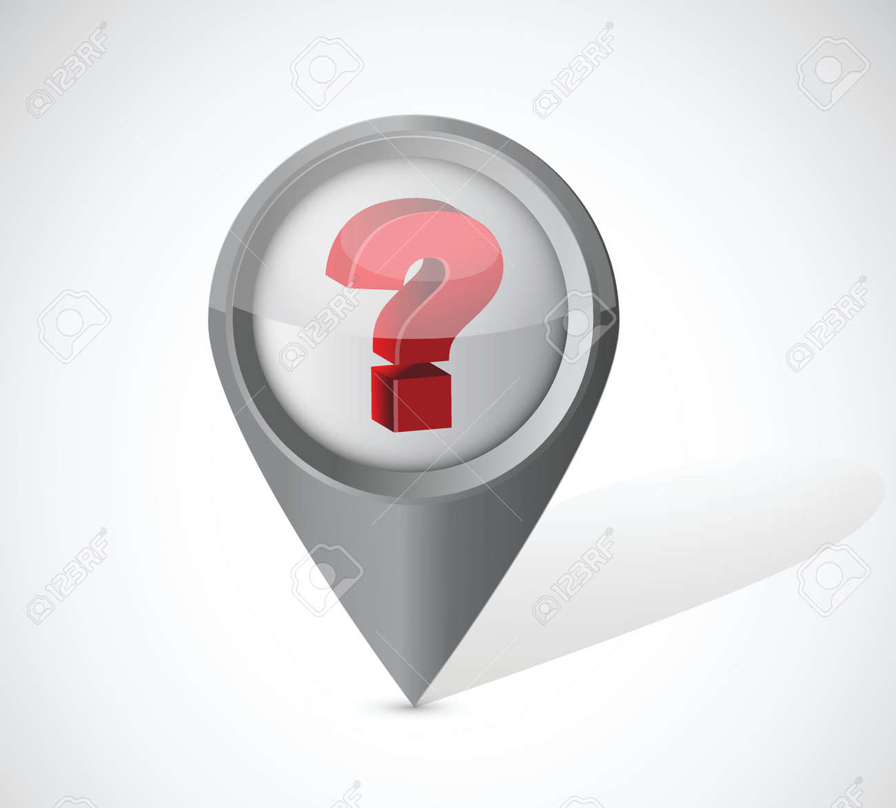 question mark pointer illustration over a white background Stock Vector - 22344550
