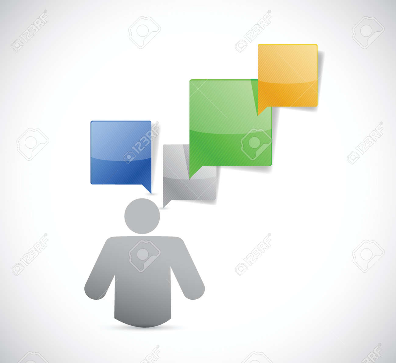 icon avatar communication illustration design over white Stock Vector - 22444816