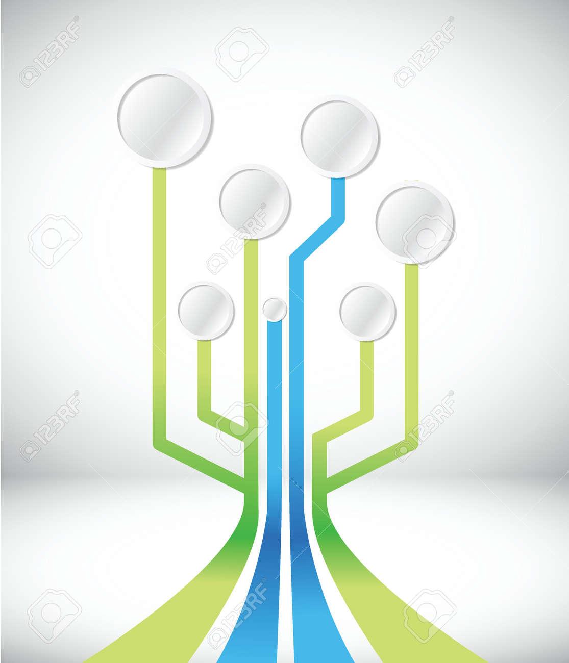 Schaltung Verbindungsnetzwerk, Illustration, Design In Weiß ...