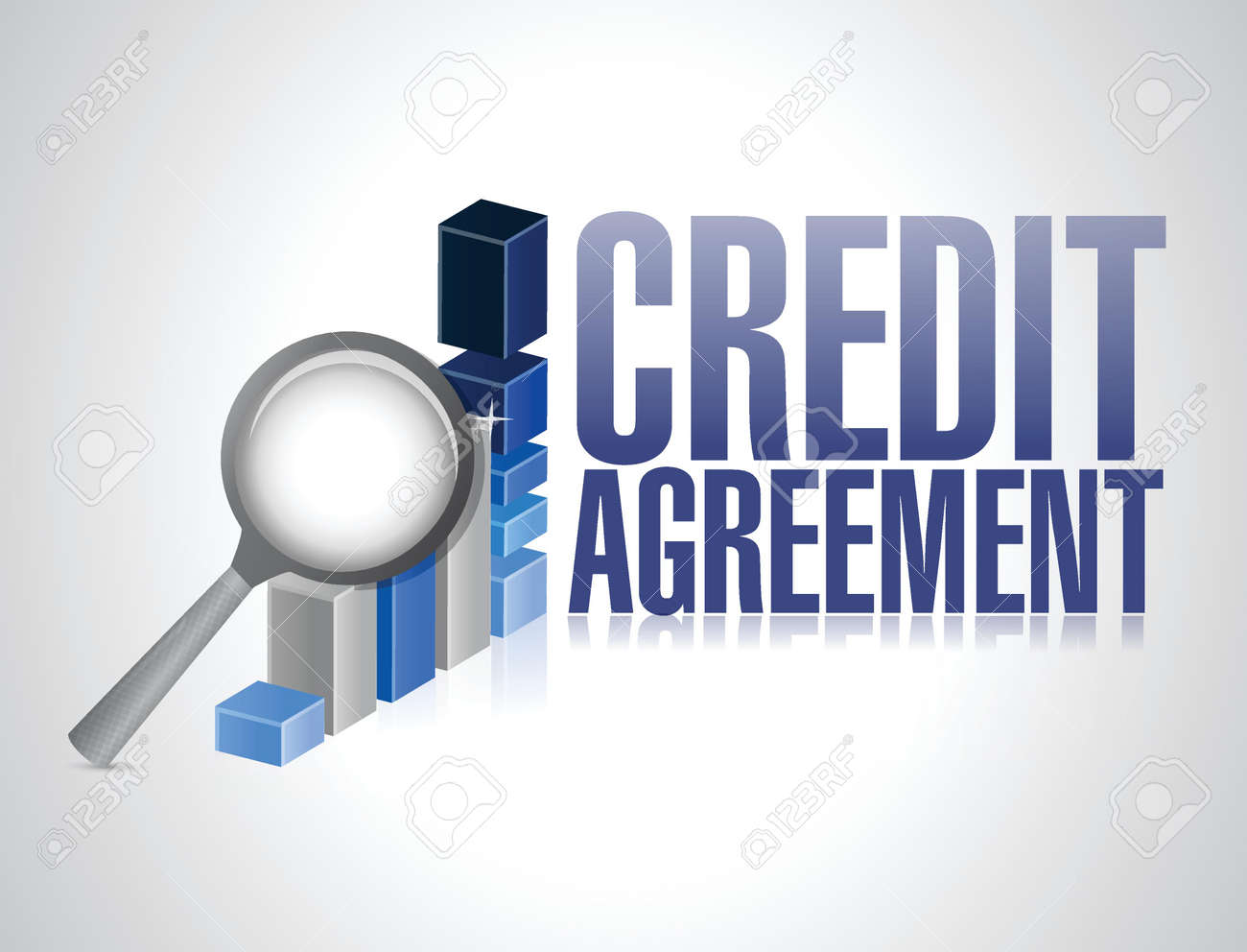 credit agreement business sign illustration design over a white background Stock Vector - 22753140
