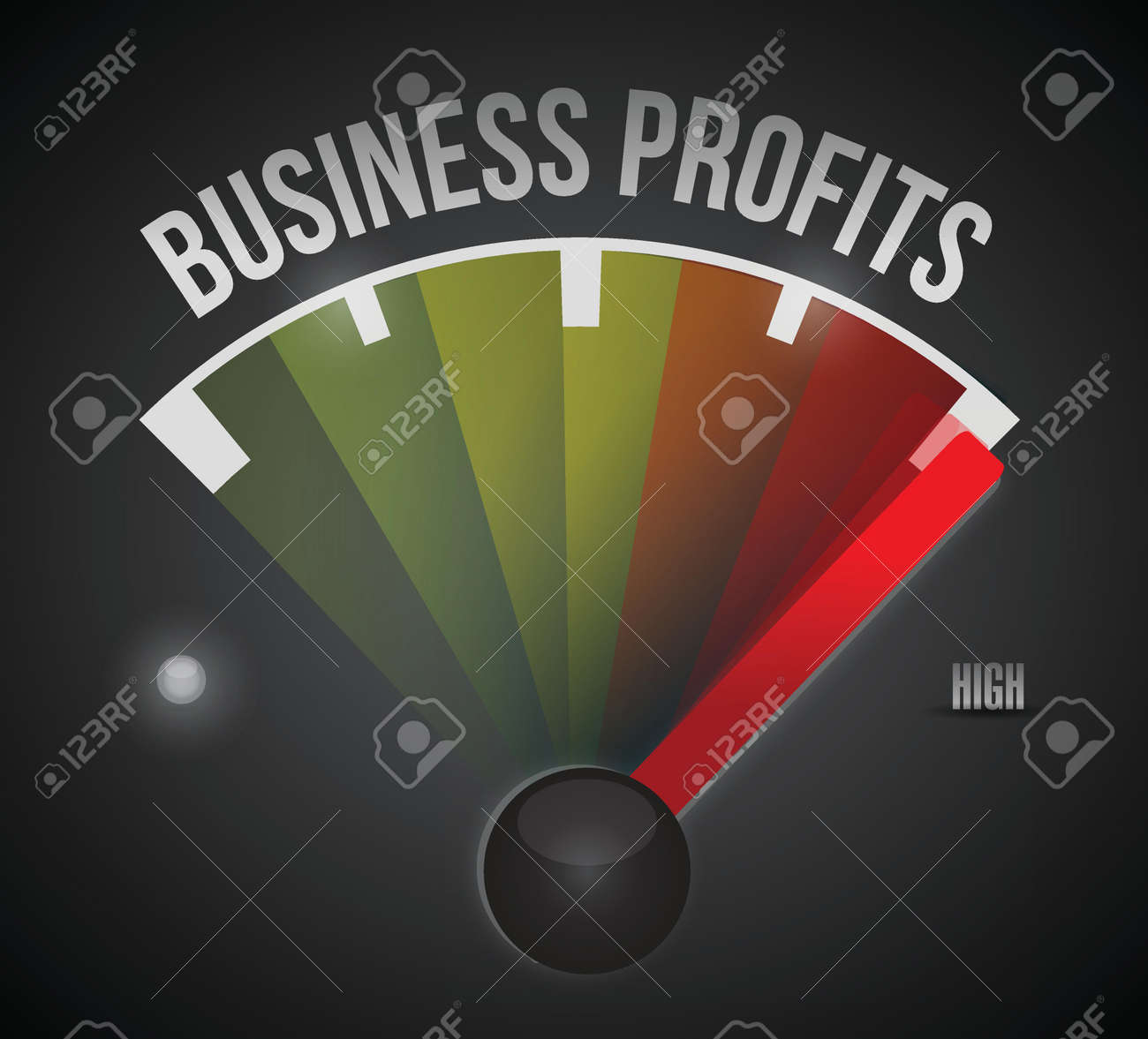 business profit level measure meter from low to high, concept illustration design Stock Vector - 22753169