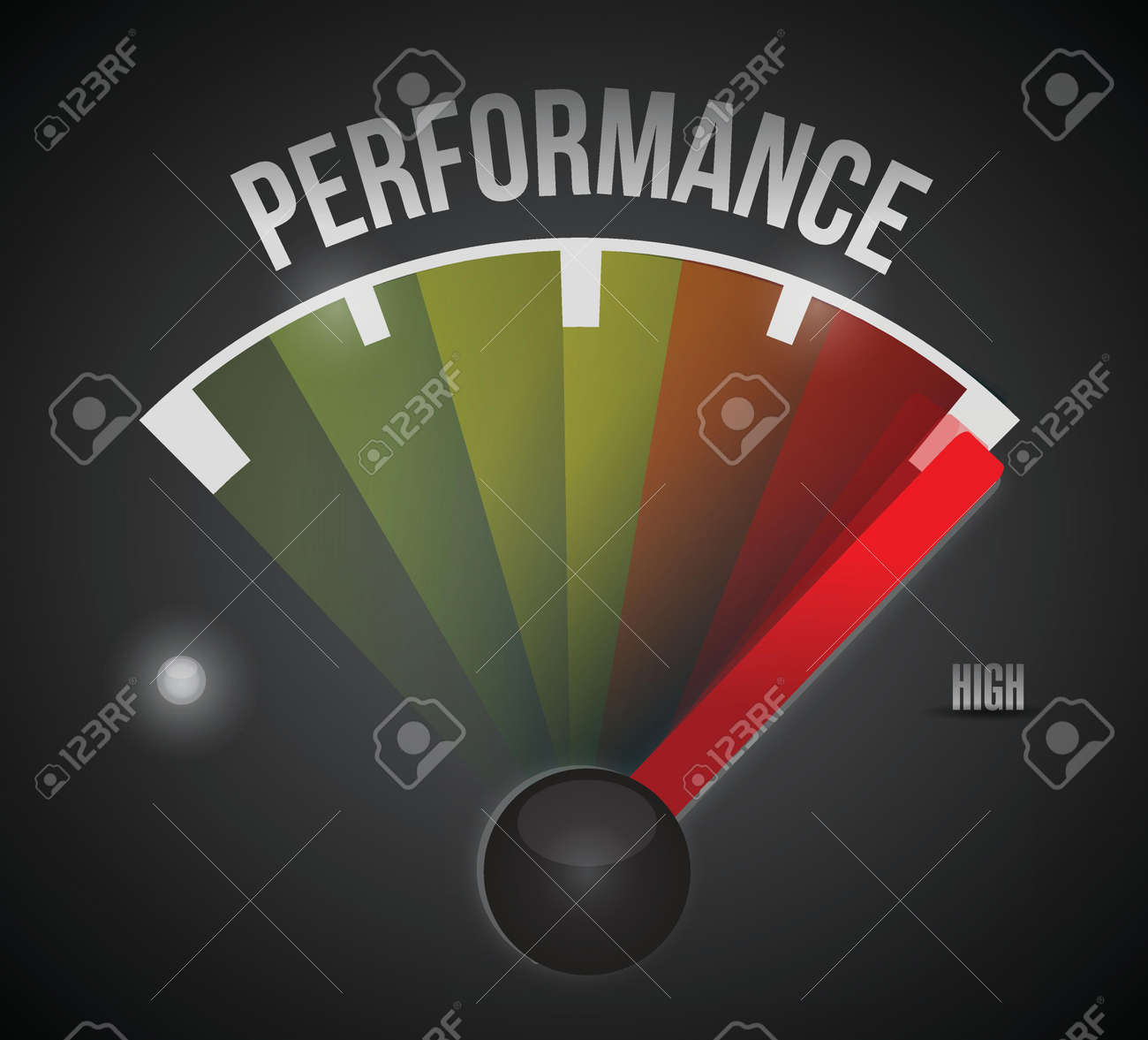 performance level measure meter from low to high, concept illustration design - 22753197