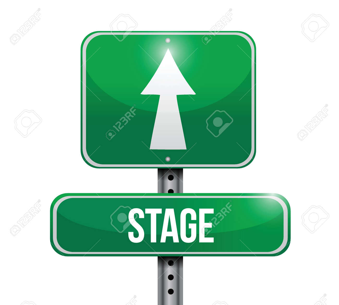 stage road sign illustrations design over a white background Stock Vector - 22860214