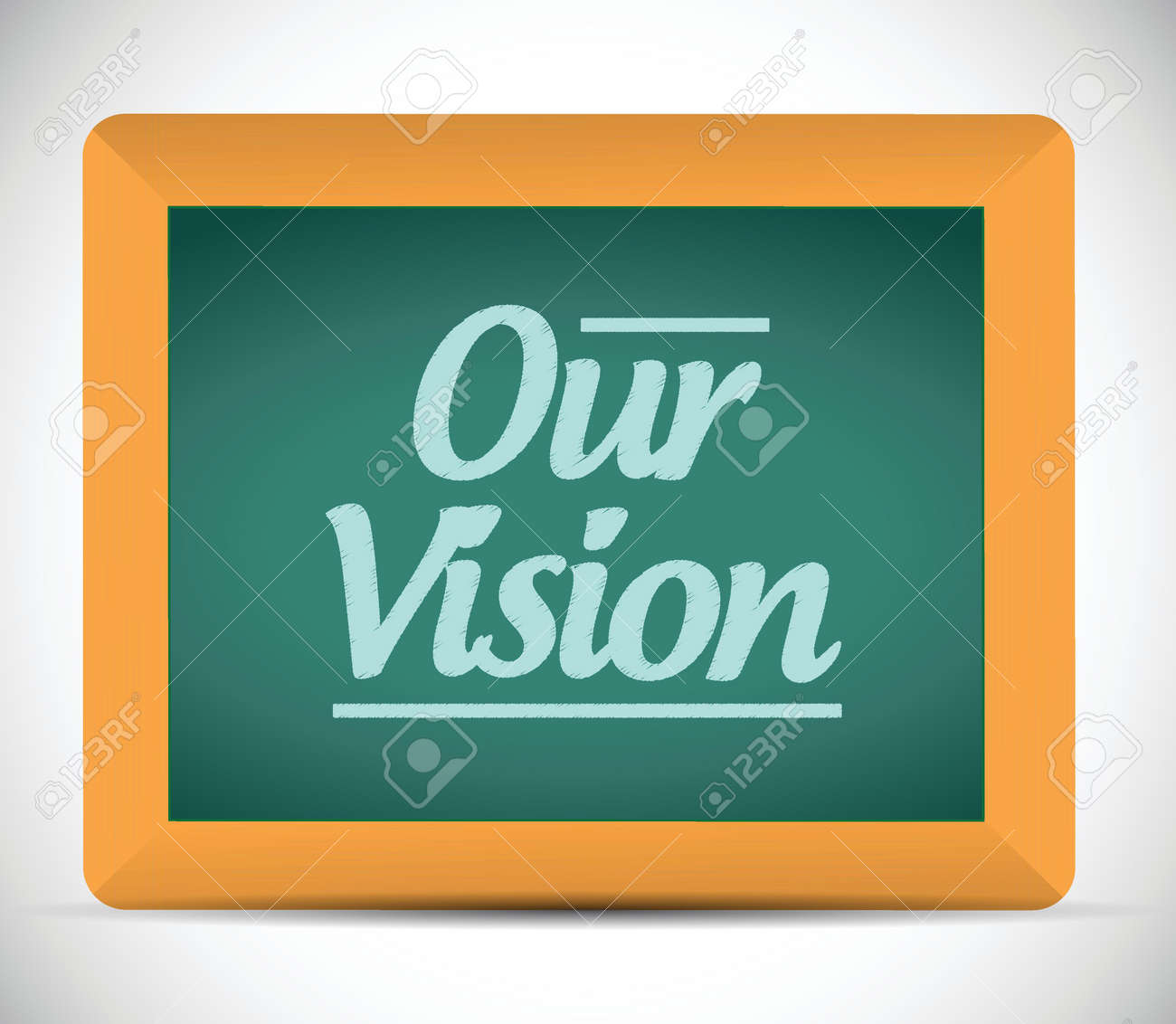 our vision message illustration design graphic. chalkboard Stock Vector - 23211118
