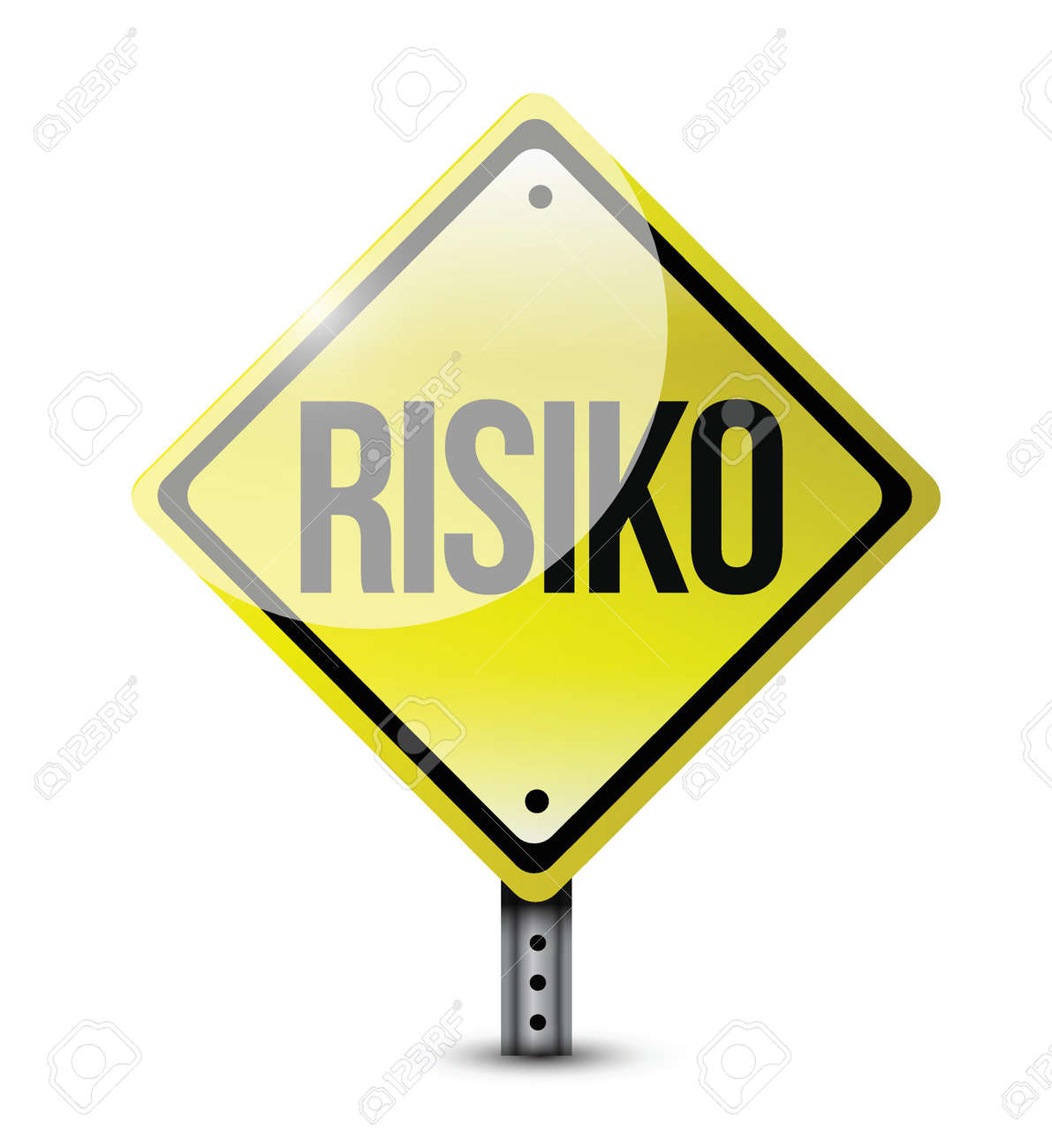 risk german road sign illustration design over white Stock Vector - 23468541