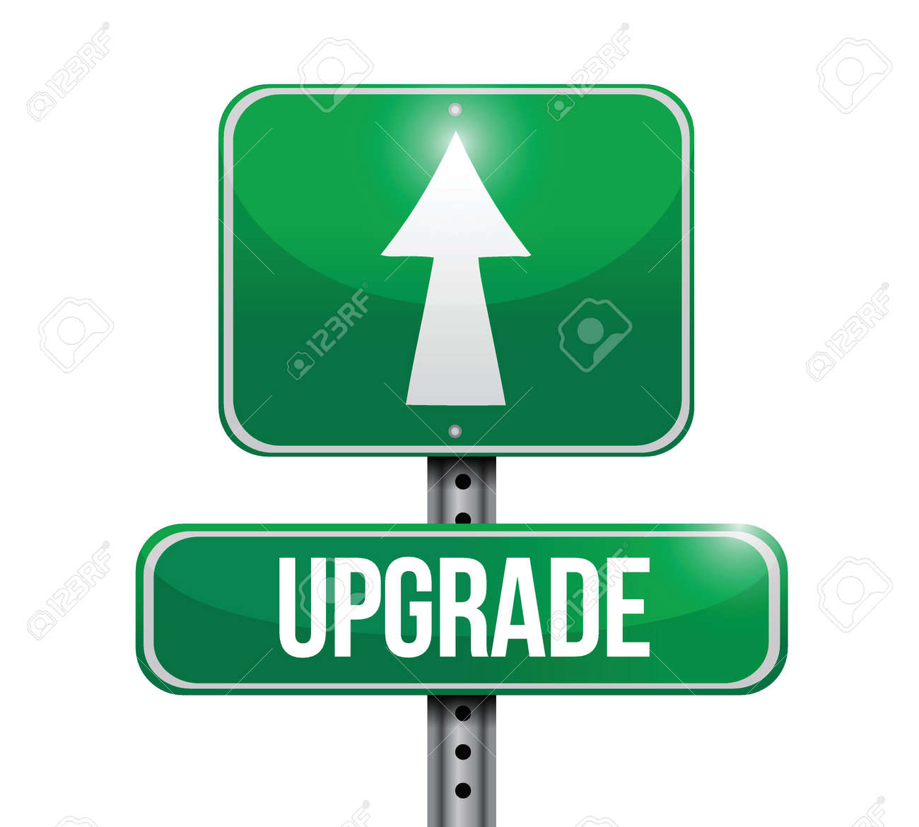 upgrade road sign illustration design over a white background Stock Vector - 23964342