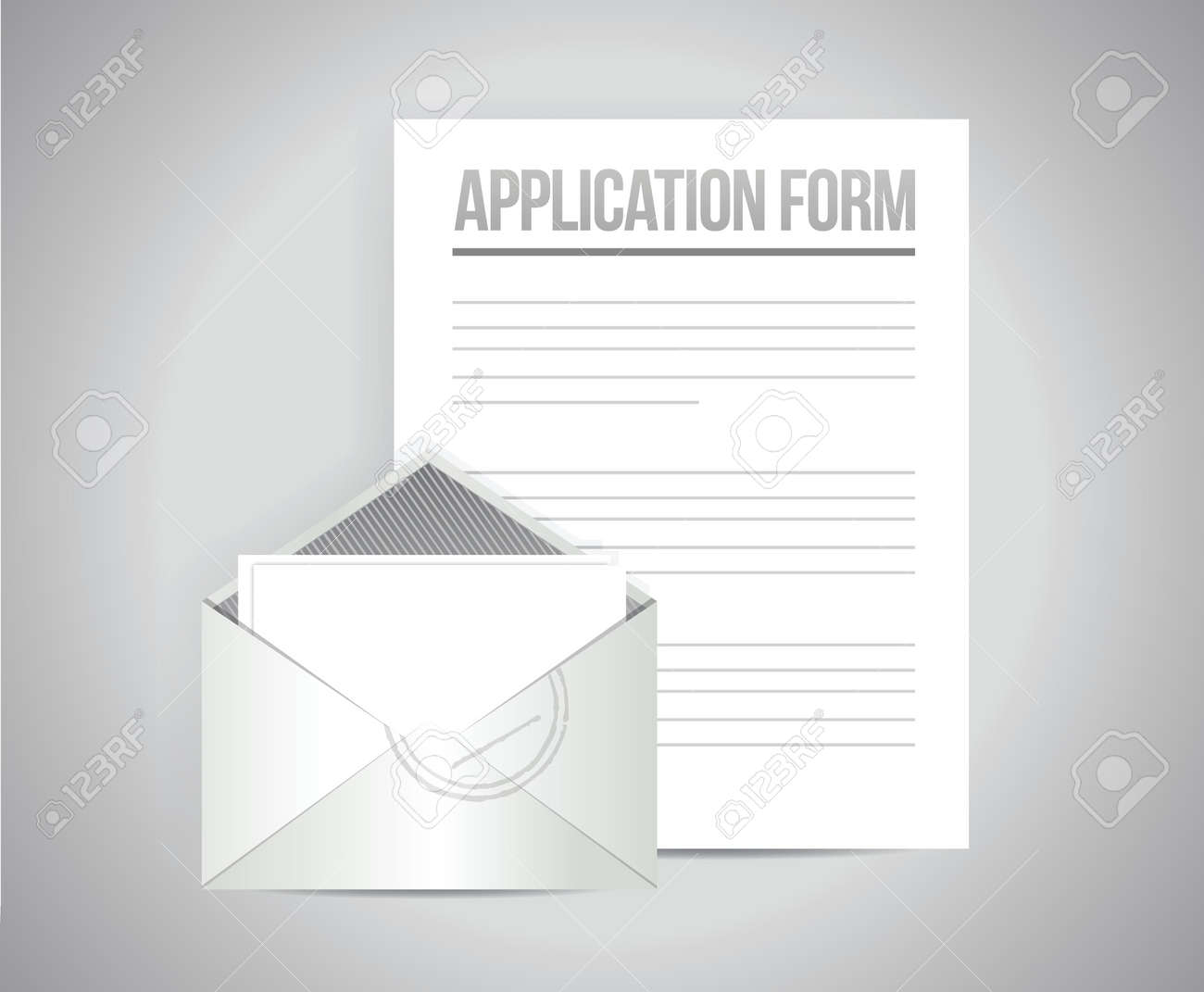 order form background design  application form illustration design graphic over a grey background