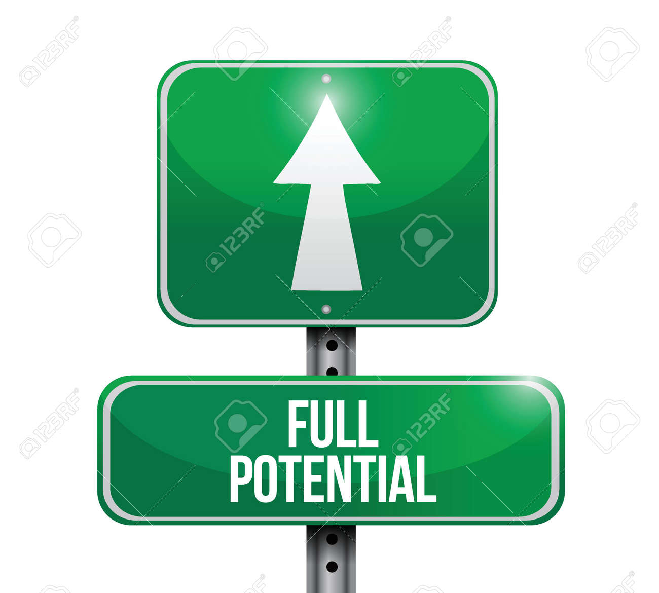 full potential road sign illustration design over a white background Stock Vector - 23964527