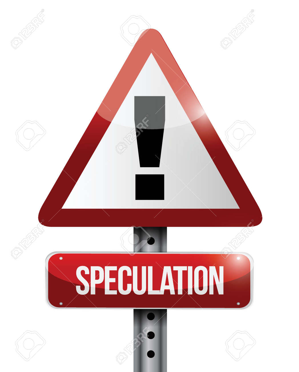 speculation warning road sign illustration design over a white background Stock Vector - 23964591